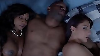 Ebony housewife and pal cum swapping