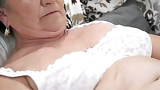 Aged hairy pussy filled with youthful cock